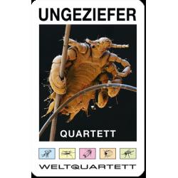 Das Ungeziefer Quartett - Die fiesesten Schädlinge in Garten, Haus und Haar auf 32 Spielkarten