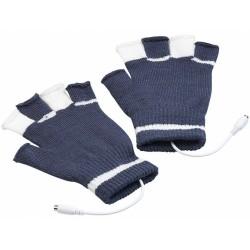 infactory beheizte USB Handschuhe beheizbar Handwärmer PC warme Finger Hände Computer