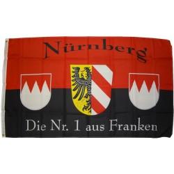Flagge Nürnberg Nr.1 90 x 150 cm Fahne mit 2 Ösen 100g/m² Stoffgewicht Hissflagge