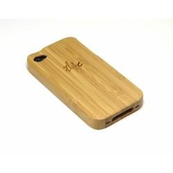 t4c Echtholz Bambus Cover für iPhone 4 / 4s - Holz Hülle Case Hardcase Handy Schale