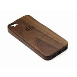 t4c Echtholz Walnuss Cover für iPhone 5 / 5s - Holz Hülle Case Hardcase Handy Schale