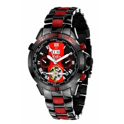 Zeitlos Automatik Uhr ZL-EBE-10 CS Exzellent Beast Herrenuhr schwarz rot Edelstahl