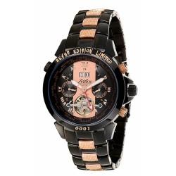 Zeitlos Automatikuhr ZL-EB-10 CR Exzellent Beast Herrenuhr roséfarbene Optik Uhr