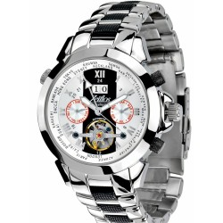 Zeitlos ZL-ES-10 B Automatik Herrenuhr Armbanduhr Exzellent Beast Farbe silber