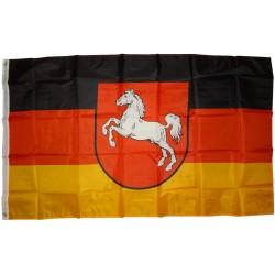 Flagge Niedersachsen 250 x 150 cm Fahne mit 3 Ösen 100g/m² Stoffgewicht Hissflagge